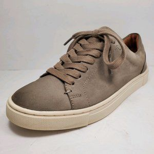 Frye | Ivy Low Top Gray Leather Sneaker Shoes 5.5